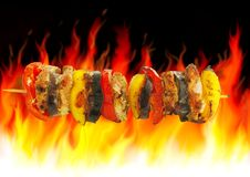 Barbecue And Fire Royalty Free Stock Photo