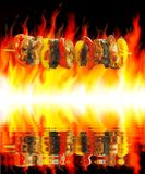 Barbecue And Fire Royalty Free Stock Image