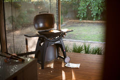 Barbecue in a apartment Stock Photo