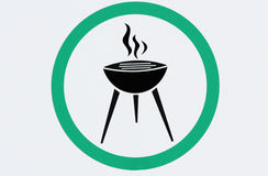 Barbecue area Royalty Free Stock Photography