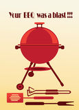 Barbecue background. Abstract objects barbecue on the light background Royalty Free Stock Images
