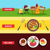 Barbecue Banner Set Royalty Free Stock Images