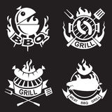 Barbecue banners set. Collection of four barbecue banners Royalty Free Stock Photo
