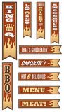 Barbecue Banners. Set of 10 different barbecue  banners with flames. Great for menus and websites Royalty Free Stock Image