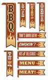Barbecue Banners Royalty Free Stock Photos