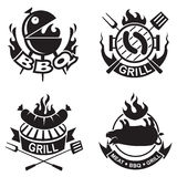 Barbecue banners Stock Photography