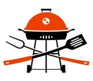 Barbecue, barbecue, grill, picknick werktuigen voor Stock Foto's