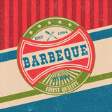 Barbecue BBQ grill logo stamp retro poster Stock Photo