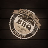 Barbecue BBQ grill logo stamp retro poster Stock Photography