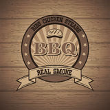 Barbecue BBQ grill logo stamp retro poster Royalty Free Stock Photography