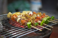 Barbecue. BBQ grill on the stove Stock Photos