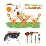 Barbecue BBQ poster elements Royalty Free Stock Photography