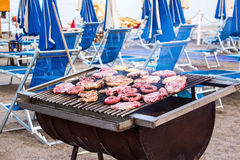 Barbecue on the beach Stock Photo