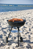 Barbecue on beach Royalty Free Stock Image