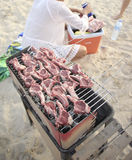Barbecue  at the beach Royalty Free Stock Photo