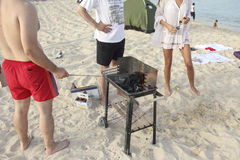 Barbecue  at the beach Royalty Free Stock Photos