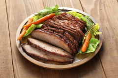 Barbecue beef brisket Royalty Free Stock Images
