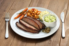 Barbecue beef brisket plate Royalty Free Stock Image