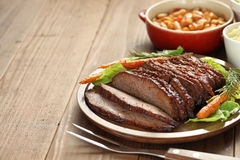 Barbecue beef brisket Stock Photography