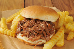 Barbecue beef sandwich Royalty Free Stock Photos