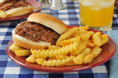 Barbecue beef sandwich Stock Photography