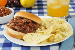 Barbecue beef sandwich Royalty Free Stock Image
