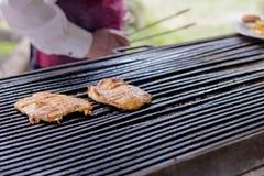 Barbecue, blanc de poulet, images stock