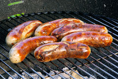 Barbecue bratwurst Royalty Free Stock Photos