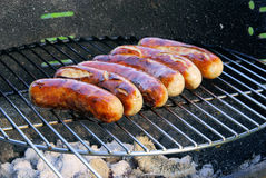 Barbecue bratwurst Royalty Free Stock Photography