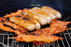 Barbecue bratwurst Royalty Free Stock Images