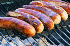Barbecue bratwurst Stock Image