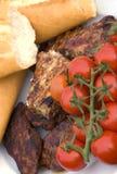 Barbecue and bread Stock Photo