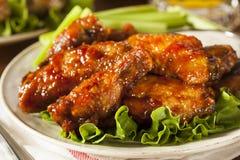 Barbecue Buffalo Chicken Wings Stock Photos