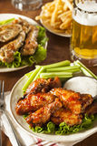 Barbecue Buffalo Chicken Wings Royalty Free Stock Photos