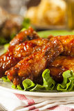 Barbecue Buffalo Chicken Wings Stock Photography