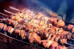 barbecue caldeireiro Shashlik Piquenique imagens de stock