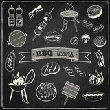 Barbecue Chalkboard Set Stock Photos