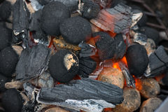 Barbecue Charcoal Stock Image