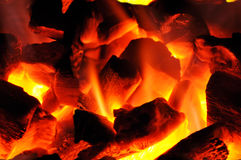 Barbecue charcoal fire Royalty Free Stock Photos