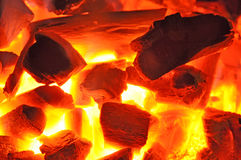 Barbecue charcoal fire Royalty Free Stock Image
