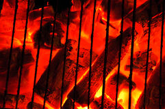 Barbecue charcoal fire Stock Image