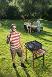 Barbecue chef Stock Photos
