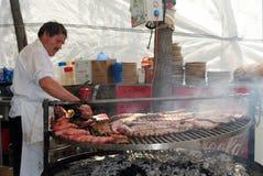 Barbecue chef, Marbella. Royalty Free Stock Photos