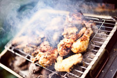 Barbecue Chicken. Outdoor Charcoal Barbecue Chicken Peri-Peri stock images