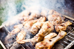 Barbecue Chicken. Outdoor Charcoal Barbecue Chicken Peri-Peri royalty free stock photo