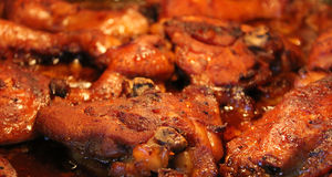 Barbecue chicken. Delicious chicken with barbecue sauce Royalty Free Stock Images