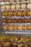 Barbecue chicken on a farmer's market Royalty Free Stock Photos