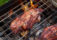 Barbecue.chicken on the grill Stock Photo