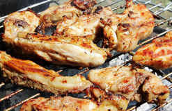 Barbecue chicken on the grill Royalty Free Stock Photo