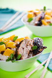 Barbecue Chicken And Mango Stock Image